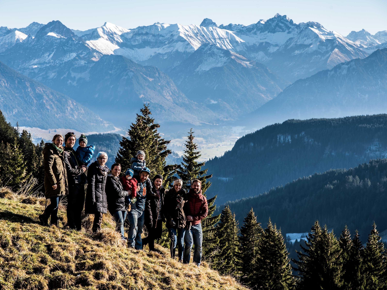 Familie Steiner auf Herbstbergtour