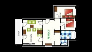 Landhaus Mayer Fewo 303 Umrisse